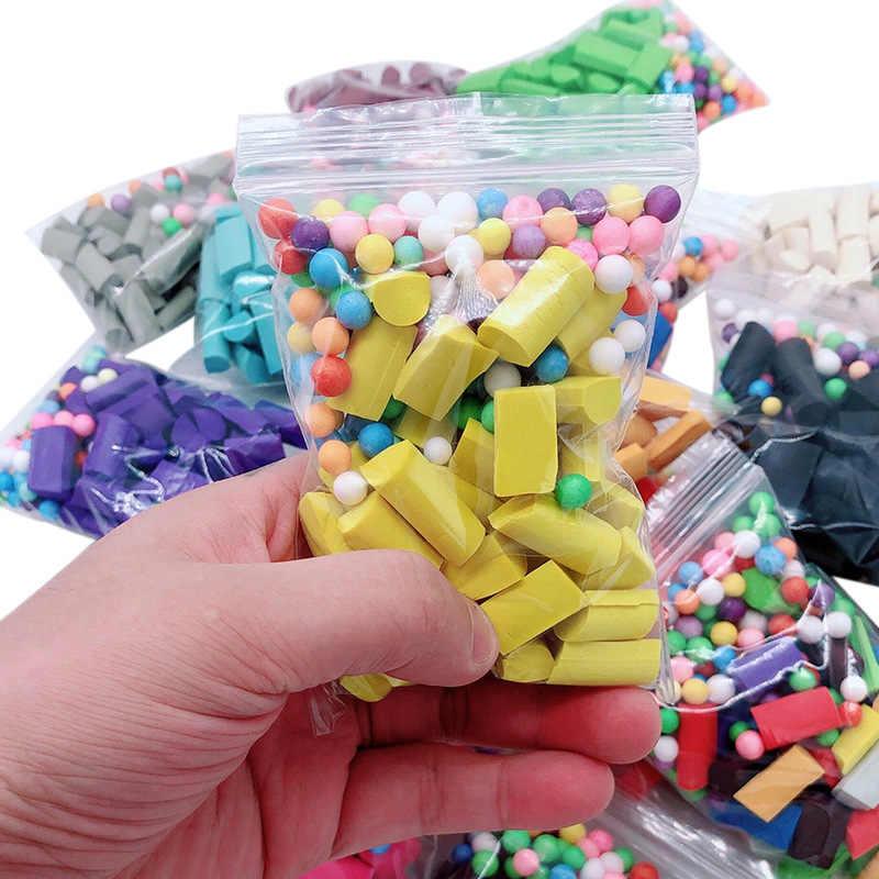 1 bolsa de limo de barro Baba decoración esponja accesorios para Slime juguete de suministros de limo de aliviar el estrés juguete de regalo para los niños