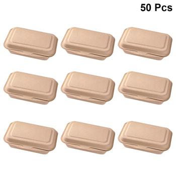 50 sztuk 600ml z hamburgerami pojemniki jednorazowe 600ml papierowy ekologiczne Doggy pudełko pudełka na kanapki na wynos restauracja Bar przekąskowy tanie i dobre opinie kraft