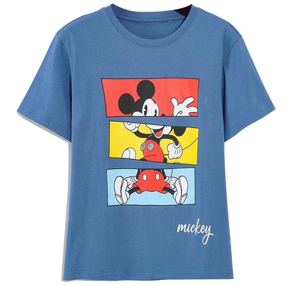 Disney Family T-Shirt Fashion Winnie the Pooh Mickey Mouse Stitch Fairy Dumbo SIMBA Cartoon Print Women T-Shirt Cotton Tee Tops 15