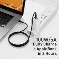 Baseus USB C To USB Type C Cable 100W PD Fast Charger Cord For Macbook for iPad Pro2020 Xiaomi mi Redmi Samsung Type-C Cable