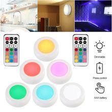 6 шт шкаф светильник затемнения rgb светодиодный кухонный освещение