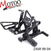 موتو كامل نك الألومنيوم دراجة نارية تعديل مجموعات الخلفية أوتاد القدم ل كاواساكي ZX6R ZX 6R 1999 2002