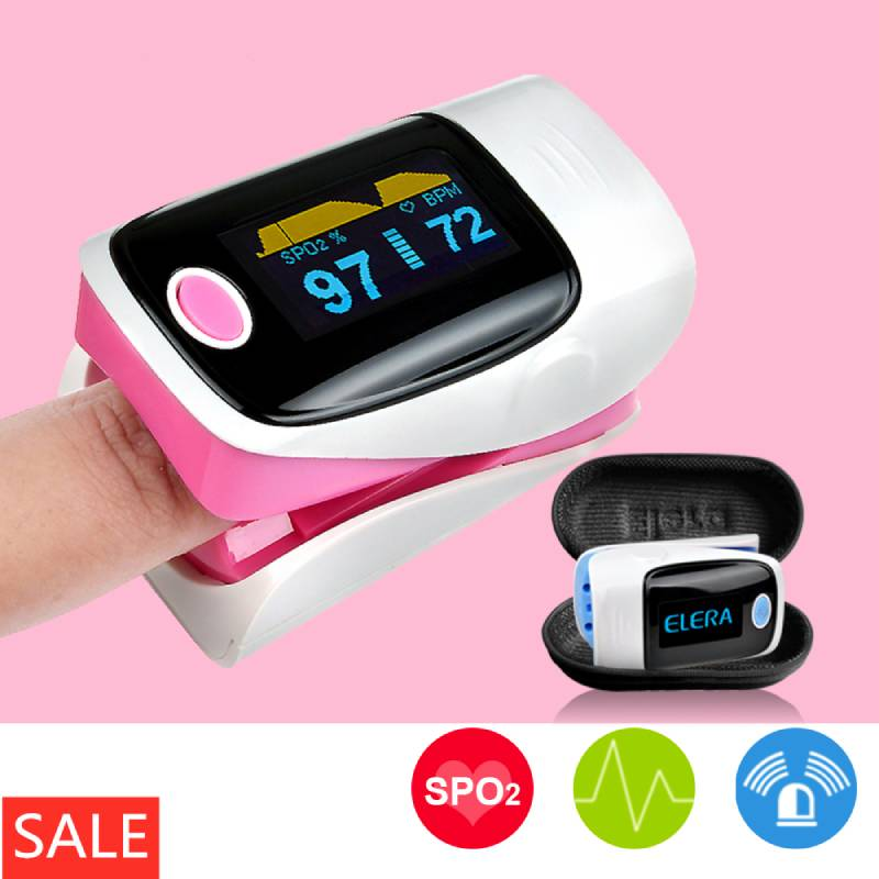 OLED Fingertip Pulse Oximeter & LCD Wrist Blood Pressure Monitor & Baby Thermometer Family Health Care Gift