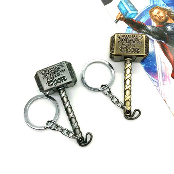 Super Hero Thor's arms Hammer Stormbreaker Men Keychain Necklace Jewelry Pendant image