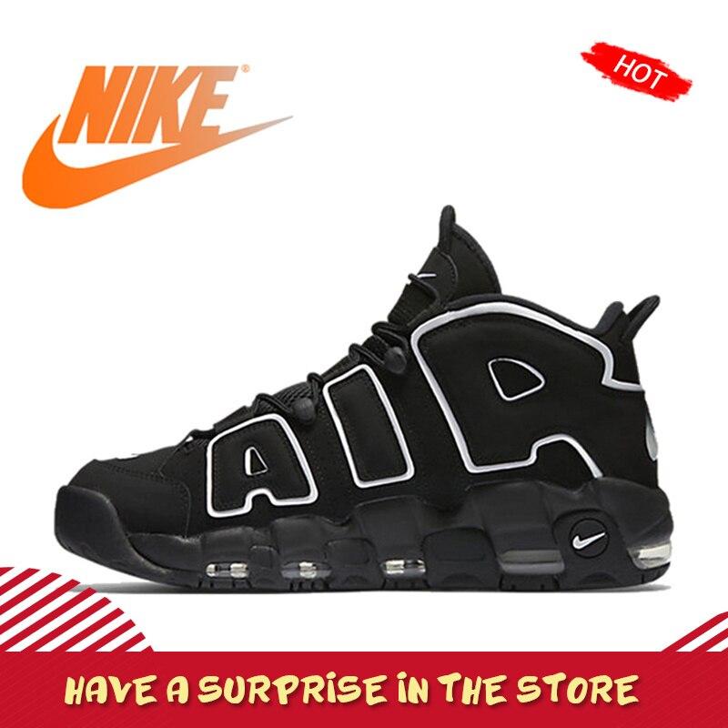 Original Autêntico Nike Air Max homens Mais Uptempo Basquete Respirável Calça As Sapatilhas Esportivas Ao Ar Livre Médio Cortar Sapatos