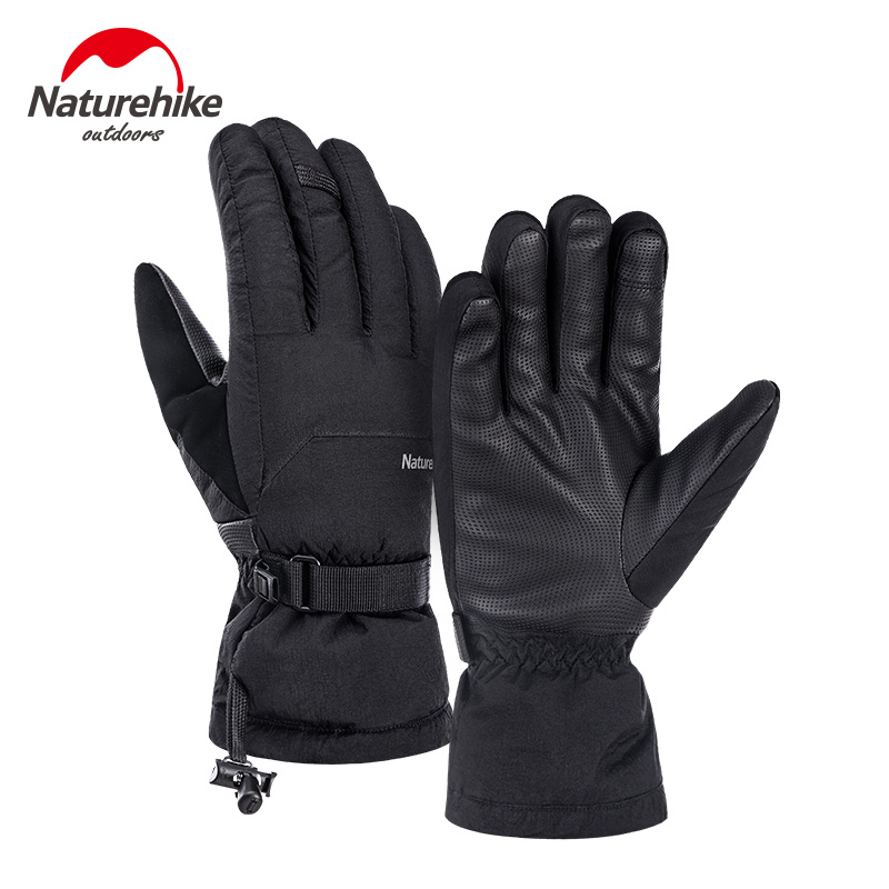 Naturehike Warm Duck Down Sport Gloves Men And Women Winter Waterproof Velvet Cycling Skiing Gloves Thickening Climbing GL07