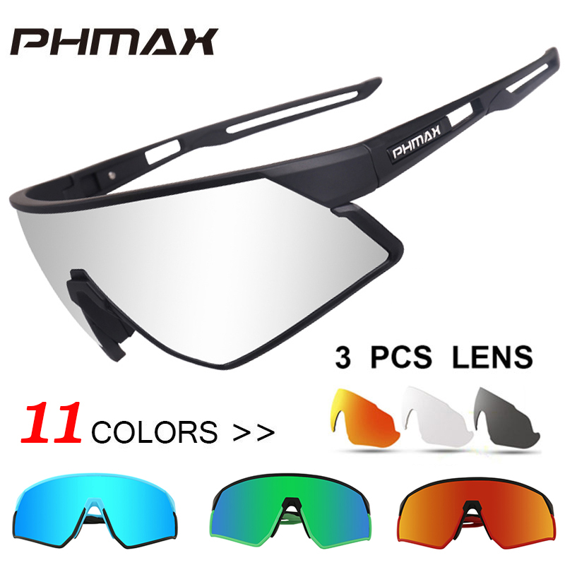 PHMAX Outdoor Sports Road Bicycle Glasses Ultralight Polarized Cycling Sun Glasses Men&Women MTB Bike Sunglasses Goggles Eyewear