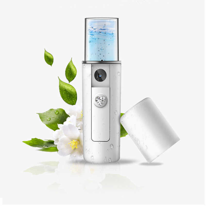 Facial Moisturizing Air Humidifier USB Rechargable Portable Nano Mist Spray Handy Atomization Mister Device Beauty Tool