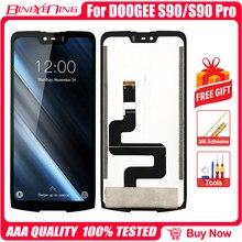 Original 6.18 polegada lcd & touch screen digitador display módulo peças de reposição para doogee s90/s90 pro/s90c lcd celular