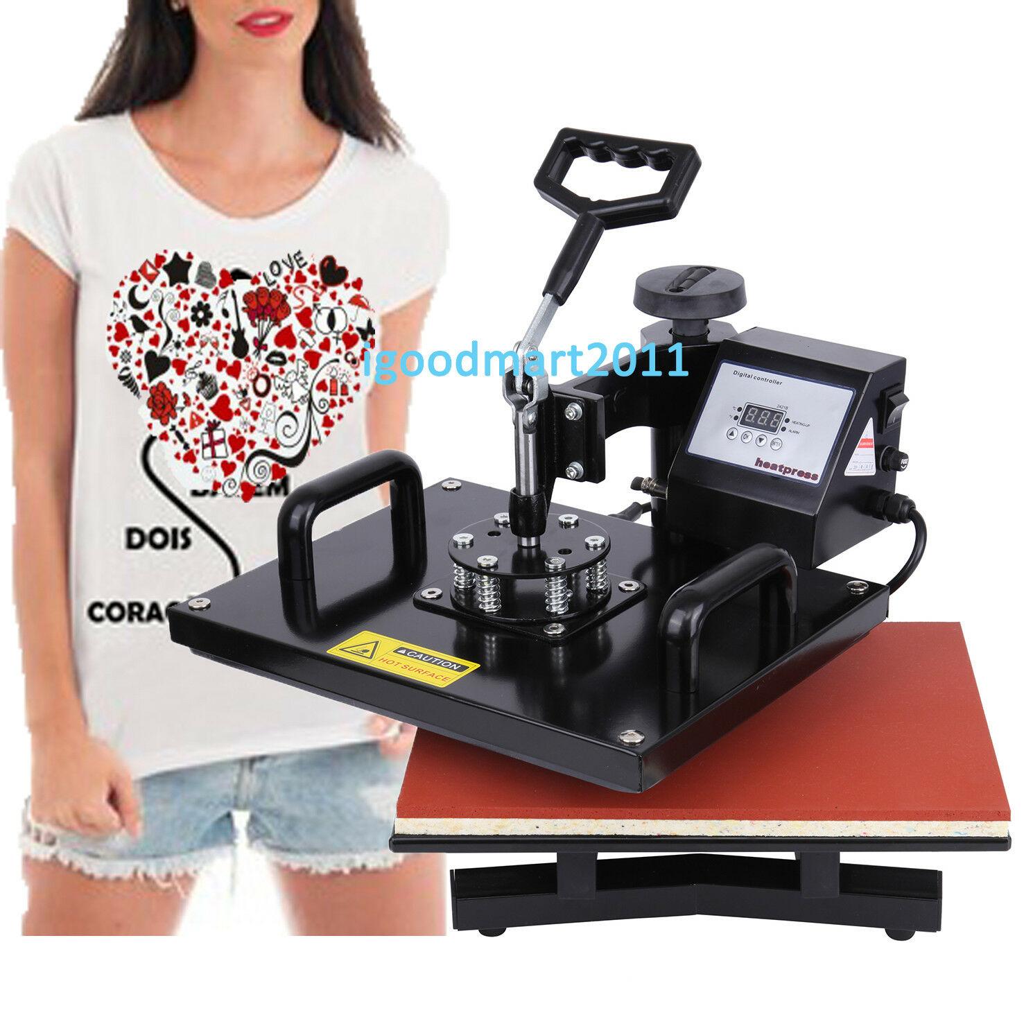 15 x11.4 inch 38 X 30cm Heat Press Machine Transfer Printers T-shirts Sublimation Fabric Cap Swing-away