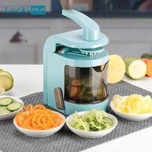 Trancheuse manuelle multifonctionnelle pour pâtes de légumes, spirale de légumes, appareil à Mandoline pour faible teneur en carpe, sans Gluten