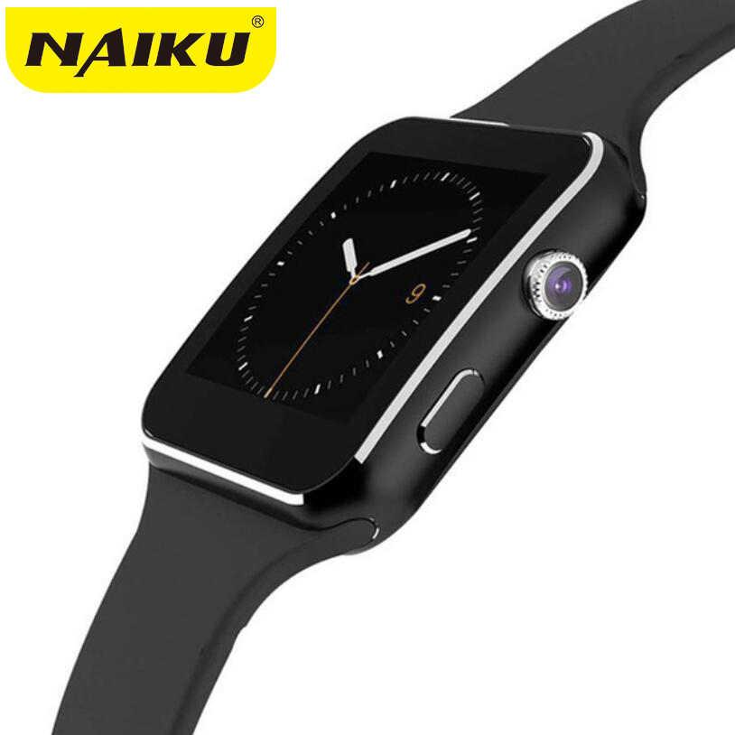 NAIKU スマート腕時計 X6 とカメラタッチスクリーンのサポート SIM TF カード Bluetooth のスマートウォッチ iphone xiaomi Android 携帯