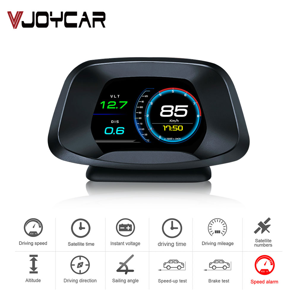 2020 New Head Up Display OBD On-board Computer HUD Display P19 OBD2+GPS Dual Mode GPS Speedometer Car Detector Oil Consumption