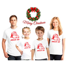 Jolly Af Family Matching Christmas Tee Shirts