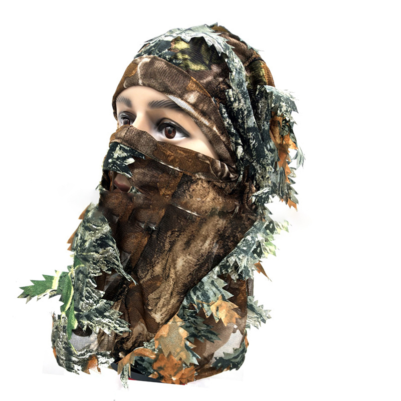 Tactical Mask Camouflage Better Concealment Outdoor 3D Suitable for Hunting Fishing Shooting Accessories Breathable Hunting Mask