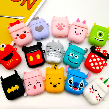Cute Soft Wireless Earphone Case For Apple AirPods 2 Silicone Charging Headphones Case for Airpods Protective Cover accessories 1