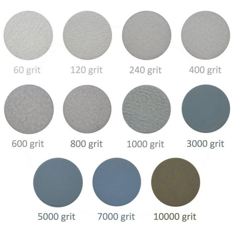 75mm Wet/Dry Sanding Discs Foam Cushion 60/240/600/1000/5000/10000 Grit