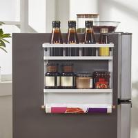Small Refrigerator Hanging Rack Kitchen Supplies Folding Rack Display Rack Multifunctional Magnetic Rack