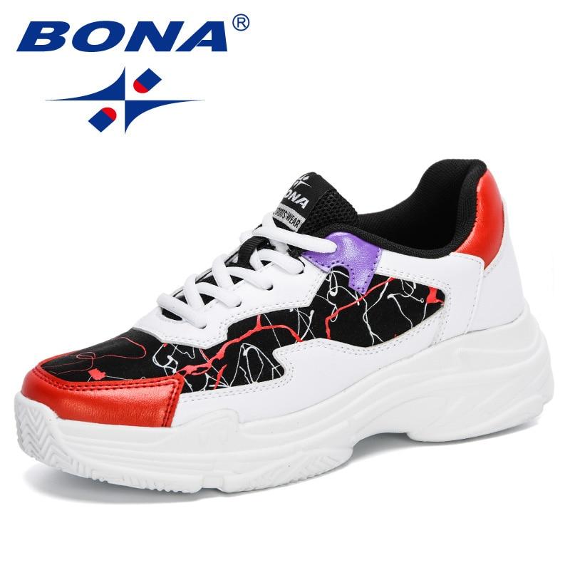 BONA 2020 New Designers Trendy Sneakers Women Outdooor Mesh Shoes Woman Platform Casual Shoes Feminino Ladies Leisure Footwear