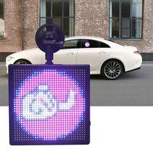 Full Color Wireless Bluetooth App Control Car LED Display Emoji Smiley Face Sign Store Vehicle