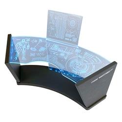 Fehlersuche Szenarien Werkbank Werkstatt Szene Test Schreibtisch mit Blau LED für 1/6 Hottoys Serie Modell Iron Man Tony stark (DC Stecker)