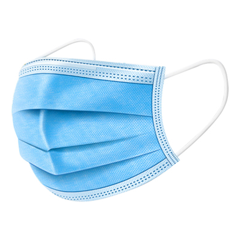 30pcs Anti Mask Protective Mouth Masks Unisex Soft Cotton 3-layer Ear Loops Breathable Face Mask Blue Color