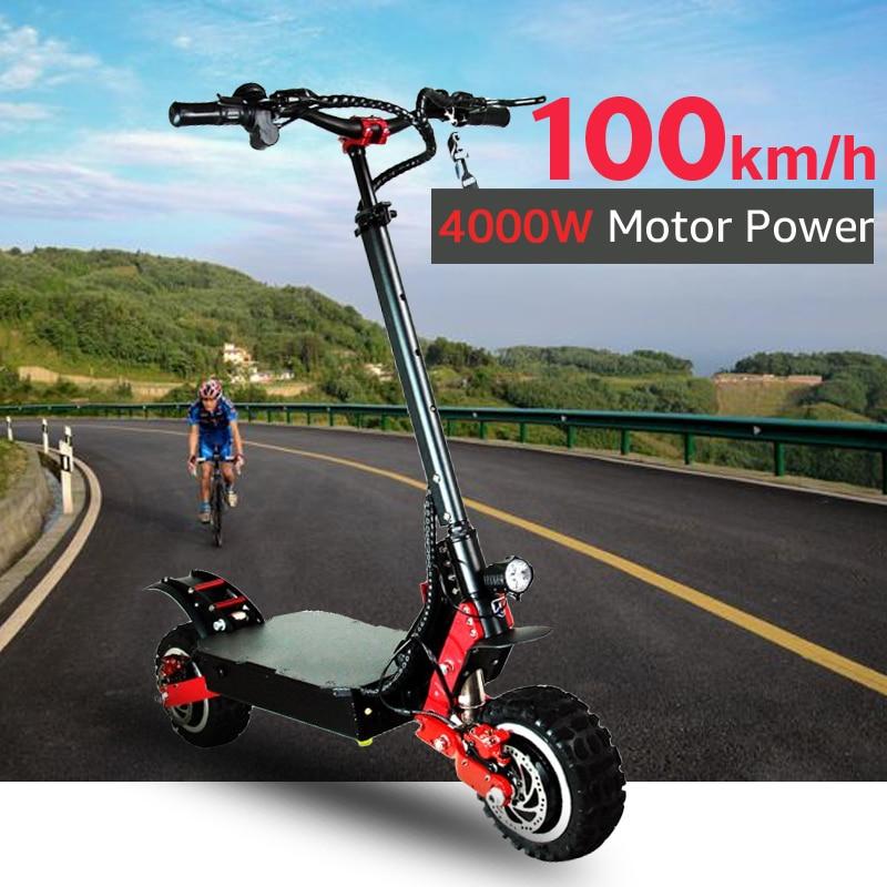 70V 4000W Scooter électrique hors route 85 KM/H moteur électrique 11 pouces adulte coup de pied e scooter pliant patinete electrico adulto
