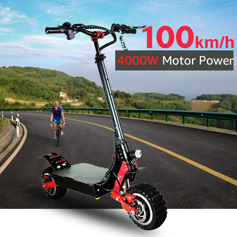 70V 4000W <font><b>Electric</b></font> <font><b>Scooter</b></font> Off Road 100KM/H <font><b>Electric</b></font> Motor 11 inch Adult kick e <font><b>scooter</b></font> folding patinete electrico adulto image