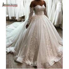 Ball gown wedding dress sparkling 2020