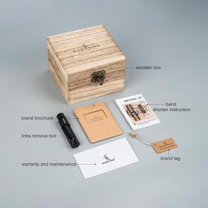 Image 5 - בובו ציפור Relogio Masculino עסקי גברים שעון מתכת עץ שעוני יד הכרונוגרף אוטומטי תאריך תצוגת שעון זכר Dropshipping