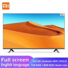 Xiaomi MI Full screen full HD Smart LCD TV E43K 43inch Quad Core 1GB+8GB Dolby Android WIFI Network Flat television home theatre