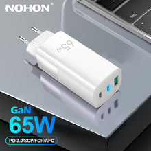 NOHON GaN 충전기 65W PD USB C 충전기 아이폰 12 프로 최대 미니 빠른 충전 빠른 충전 Xiaomi 삼성 태블릿 노트북