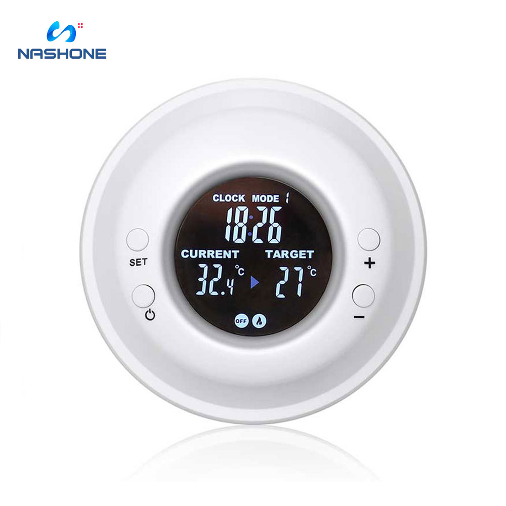 Digital Thermostat Temperature Controller, Wireless Remote Control Thermostat Timer With LCD Display Outlet Adjustable Heating