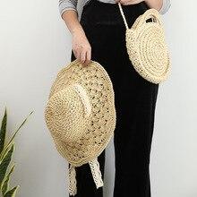Женщин-2020 мода все-Матч круглый соломы сумки небольшой свежий сумка Messenger плеча