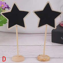 Mini Small Wooden Chalk Blackboard Wedding Kitchen Restaurant Signs Chalkboard Writing Notice Message Paint Wood Board D Style(China)