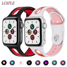 Strap For apple watch 4 band 44mm iwatch band 42mm 40mm sport silicone correa 38mm pulseira apple watch 5 4 3 bracelet watchband цена и фото