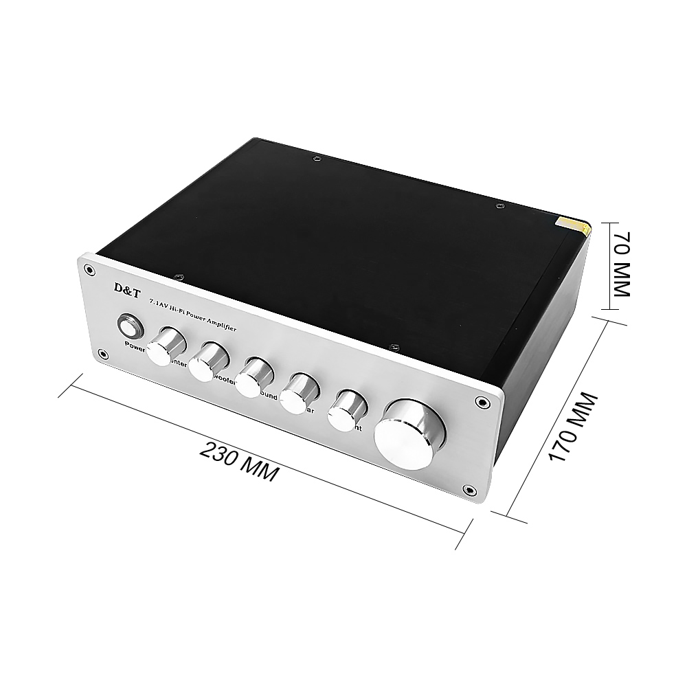 AIYIMA 7.1 Home Theater Power AV Amplifier 8x20W 8 Channel Audio Sound Amplifier Active Subwoofer Speaker Amplificador - 2