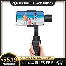 EKEN S5B 3 eksen el gimbal sabitleyici cep telefonu Video kayıt Smartphone Gimbal telefonu eylem kamera VS H4