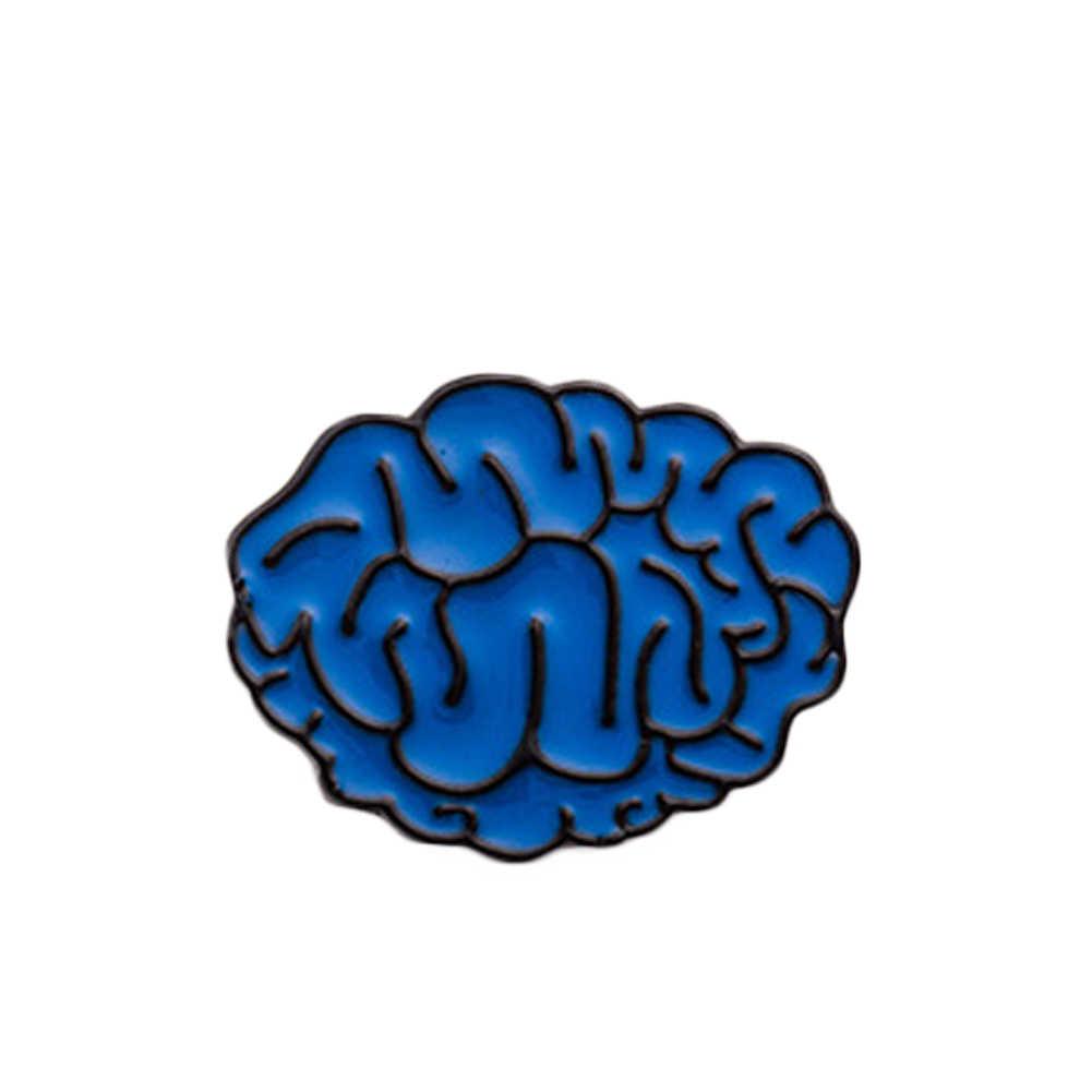 2016 Nuovo Disegno di Personalità Spilla Dente Umani Del Cuore Anatomico Cerebrum Cervello Bulbo Oculare Dello Smalto 0069