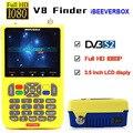DVB-S2/S2X V8 Finder Цифровой спутниковый Finder Meter Sat Finder 3 5 дюймовый ЖК-дисплей MPEG-4 Satfinder FTA Full HD
