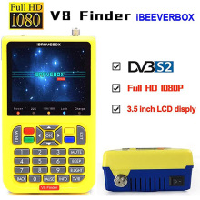 цена на DVB-S2/S2X V8 Finder Digital Satellite Finder Meter Sat Finder 3.5 inch LCD Display MPEG-4 Satfinder FTA Full HD