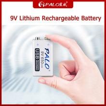 Bateria recarregável do li-íon do lítio 6f22 9v da bateria de palo 9v para as baterias eletrônicas 9v do controle remoto do brinquedo do multímetro ktv