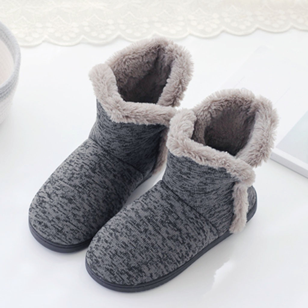 Toddlers Winter Soft Warm Non-Slip Rubber Sole Indoor Ourdoor Bootie Slippers