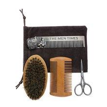 Beard Comb Set Double Beard Oil Head Shape Beard Comb Brush Care Beard Oil Tool Beard Comb Set Professional men beard care set beard cream comb beard oil brush cleaning liquid