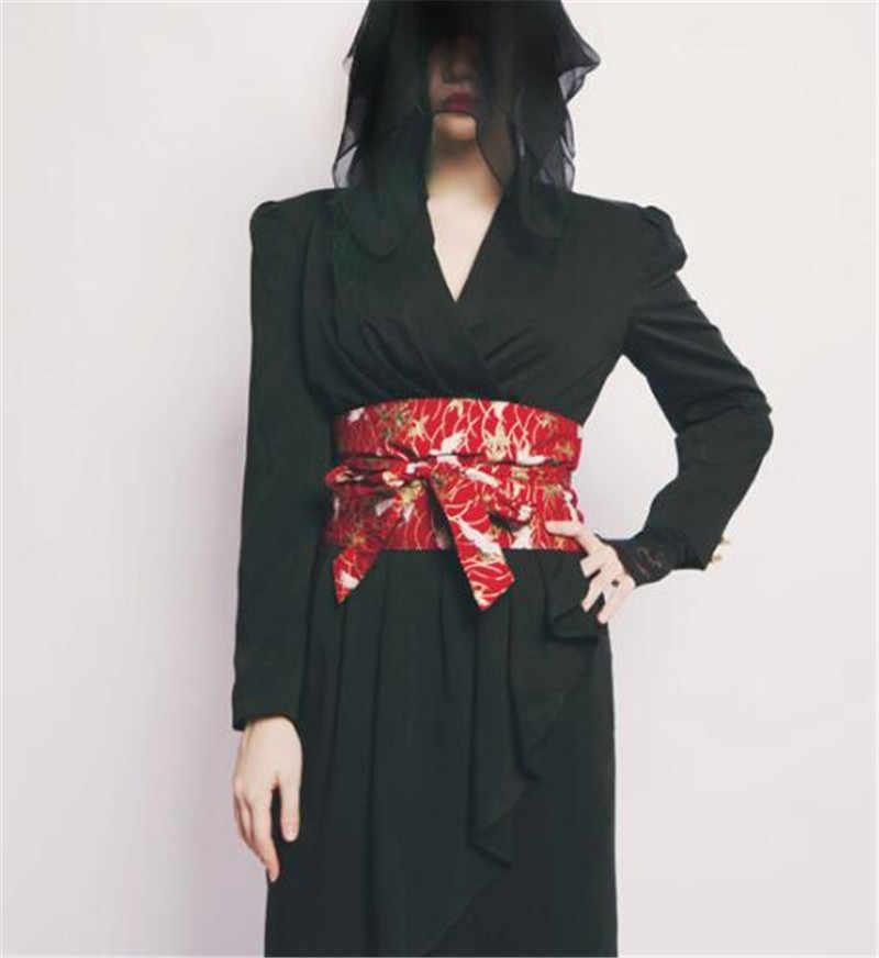 جديد اليدوية اليابانية الشرير لوليتا كيمونو تنورة اللباس الخصر خمر حزام المرأة اوبي حزام هدايا السنة الجديدة تأثيري الدعائم للنساء