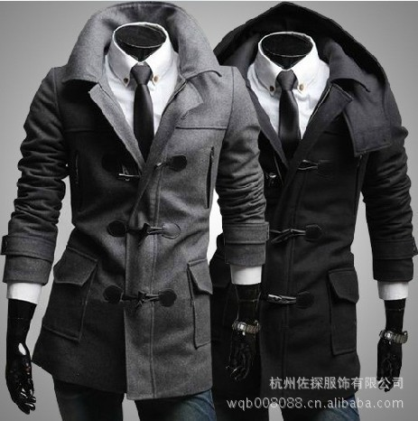Hot Selling Men'S Wear Fashion Winter Fall And Winter Clothes New Style Boutique Toggle Duffle Coat England Large Size