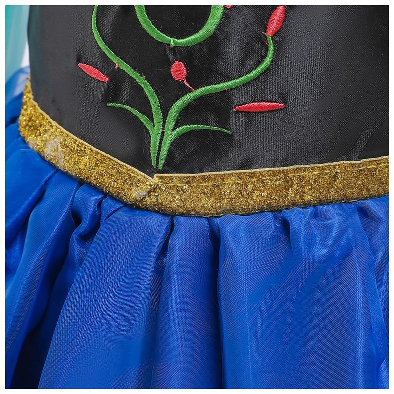 Haf6689f0ce9149cb85f6ff260dd37269s Send crown Baby Girls Dress Christmas Anna Elsa Cosplay Costume Summer Girl Princess Dress for Birthday Party Vestidos Menina
