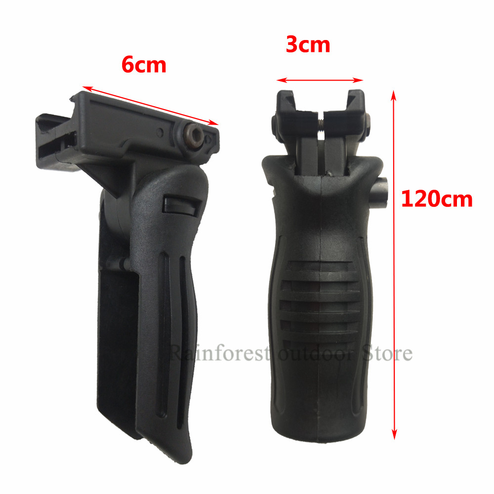 Tactical AK47 Vertical Grip ABS Handle Grip Front Forward Foregrip For Picatinny Rail Vertical Grip Toy Guns Accessories Set