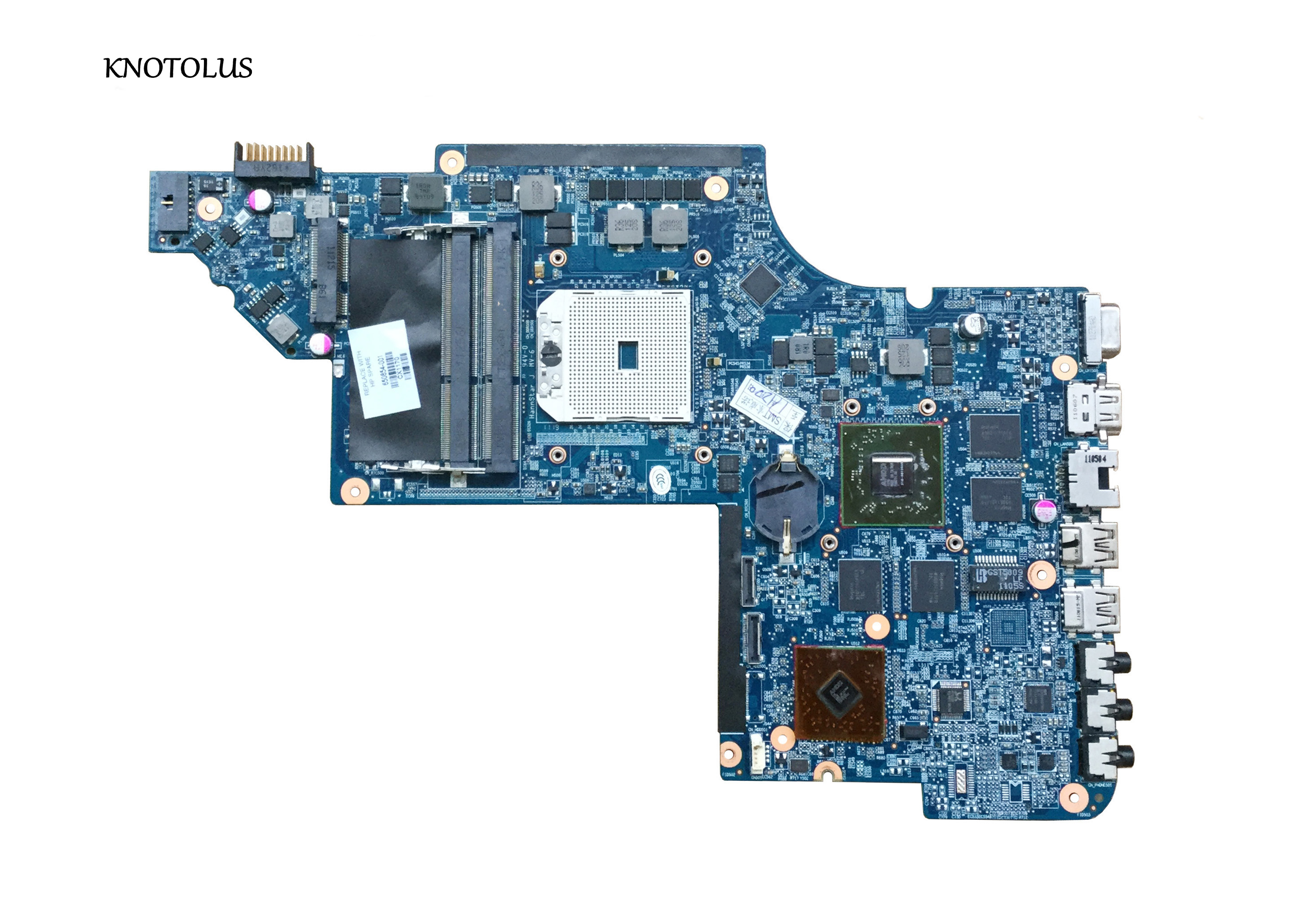High Quality 650854-001 For HP Pavilion DV6 DV6T DV6-6000 Motherboard HD6750M/1G.All Functions 100% Fully Tested
