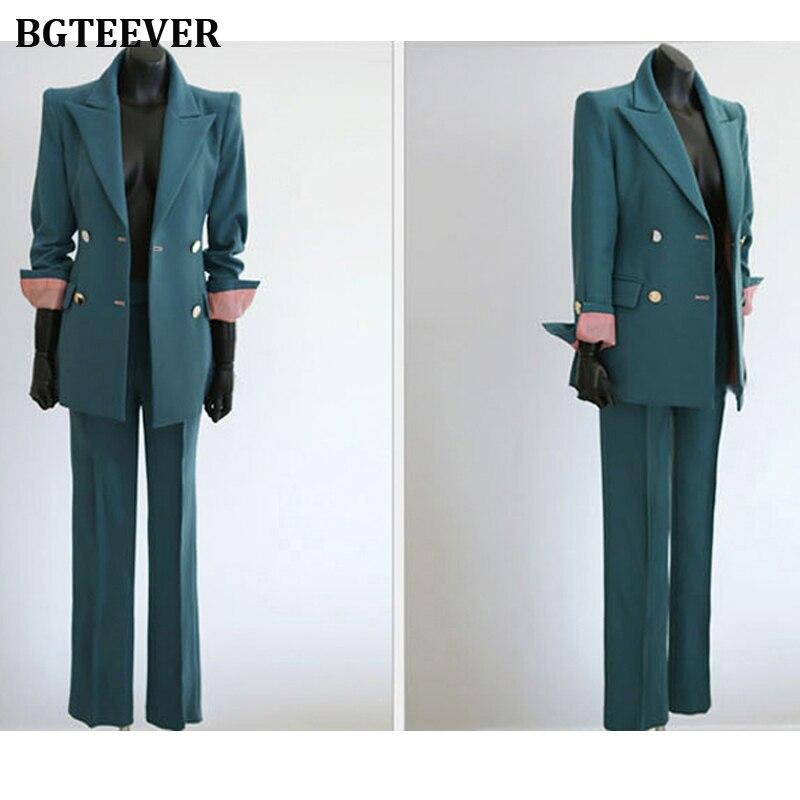 Fashion Work Pant Suits Women Slim Blazer Jacket & Ankle-length Pants OL Style Female Suits 2 Pieces Set 2019 Blazer Suit Set 52
